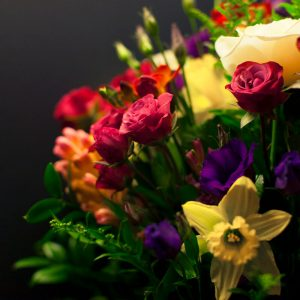 Signature bouquet of seasonal flowers